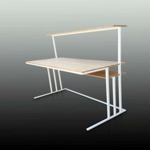 MEZZATO bureau 120x60 acier & bois