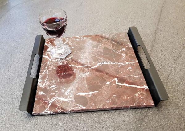 PLATEAU ARAMIS marbre rosso lepanto