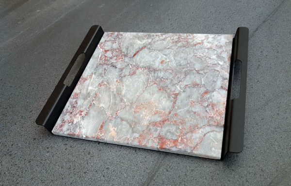 PLATEAU ARAMIS marbre salomé rouge