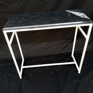 mezzato - console - marbre black marquina - piece d'exception (1)